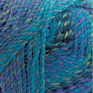 blue marbled yarn
