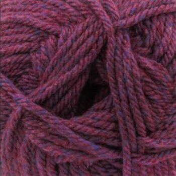 Chunky with Merino Yarn - Purple with Red Tints - CM14 (100g)