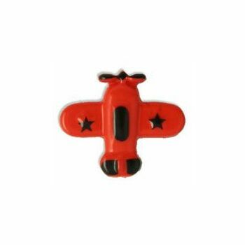 Airplane Button - 28 lignes/18mm -Red