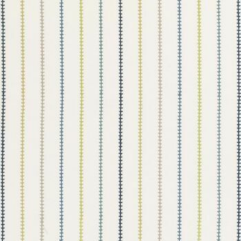 Clarke & Clarke - Storybook - Stitch Stripe Blue