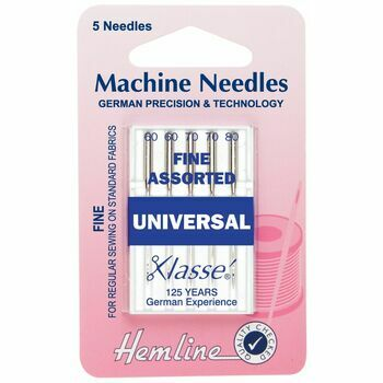 Hemline Universal Fine Machine Needles