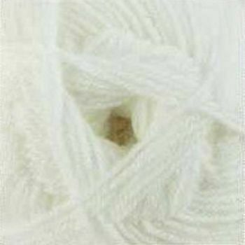 Double Knitting with Merino - White DM1 - 100g