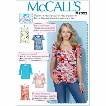 McCall's Sewing Pattern M7322 (Misses Tops)