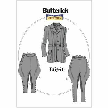 Butterick Making History Sewing Pattern B6340 (Mens Jacket/Breeches)