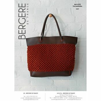 Cat. 15/16 - #218 Rust tote bag