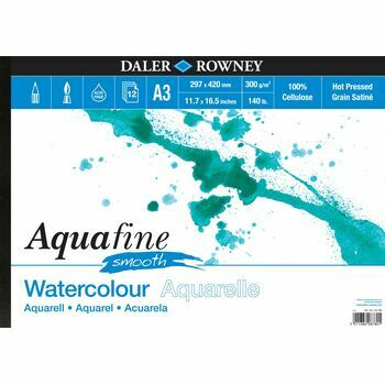 Aquafine Smooth A3 Watercolour Pad (Pack of 2)