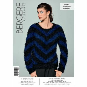 Cat. 15/16 #116 - Round-neck two-tone sweater