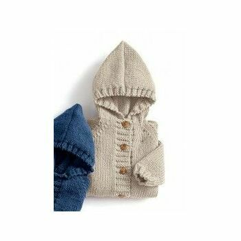 Beige Hooded Coat Kit - 3-12 months (with needles)