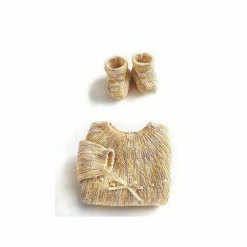 Straw Jumper & Boots Kit - 0-3 months (with needles)