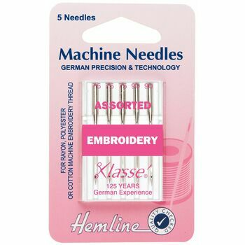 Hemline Embroidery Machine Needles - Assorted