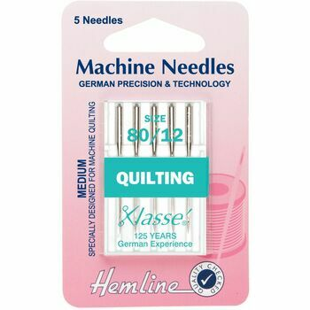 Hemline Quilting Machine Needles - Medium 80/12