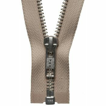 YKK Nickel Free Metal Open End Zip - Fawn (56cm)