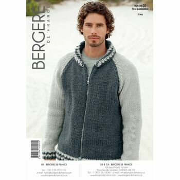 Bergere de France men's ZIPPED JACKET PATTERN - 42902