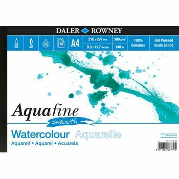 Daler Rowney Aquafine Smooth Watercolour Pad (A4)