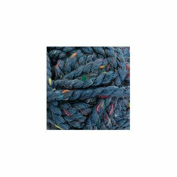 James C Brett Rustic Mega Chunky - Blue With Flecks (100g)