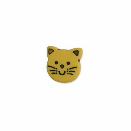 Kitten Button - 22 lignes/13mm -Yellow